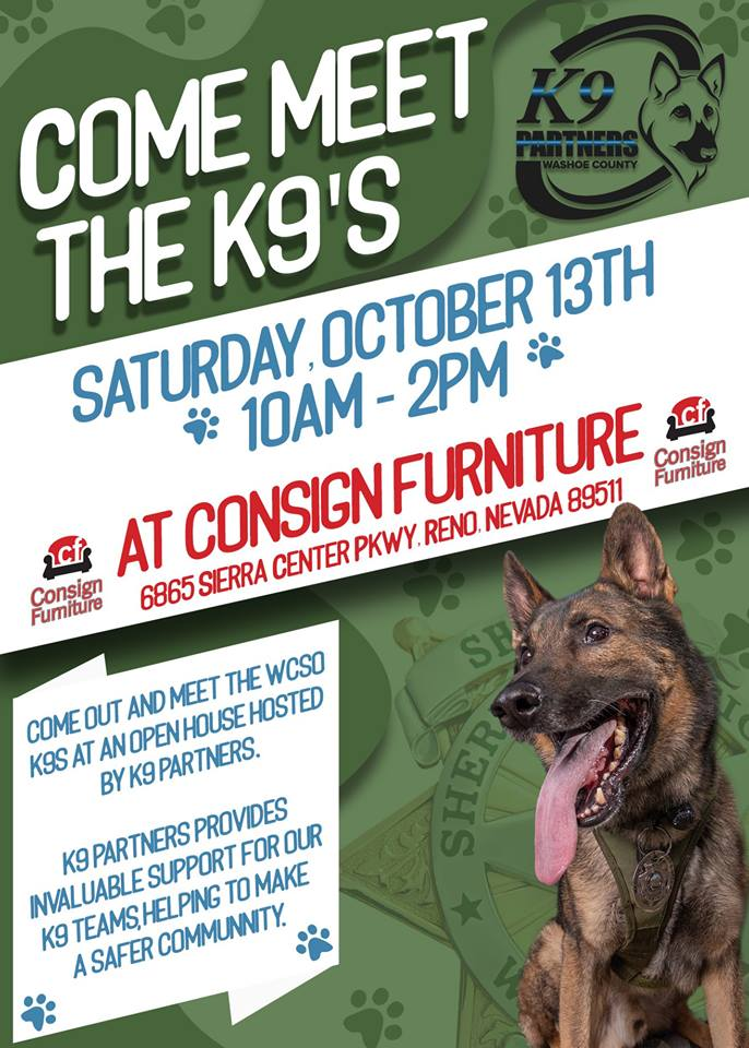 Washoe County K9's at Consign this Saturday! - Consign Furniture